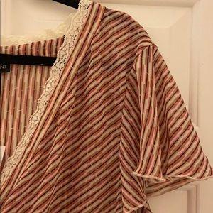 NWT LANE BRYANT semi sheer blouse w/lace